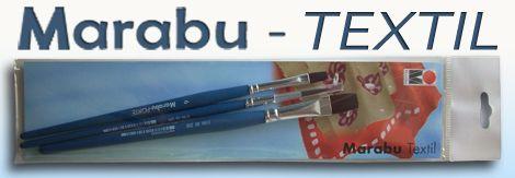TEXTILE Brush Set - Marabu - 3pcs