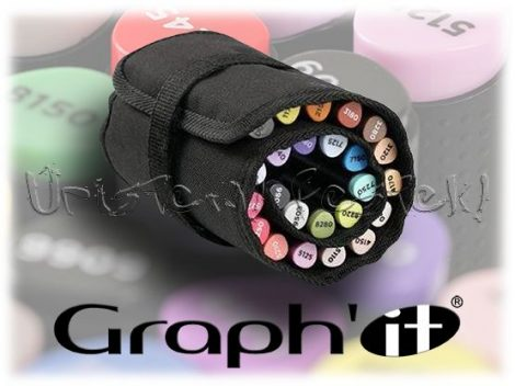 Filctartó - Graph'It 24 férőhelyes feltekerhető (üresen) - fekete