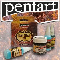 Rozsda-hatás - Pentart Rust Effect set, 3x20ml + 1x120g