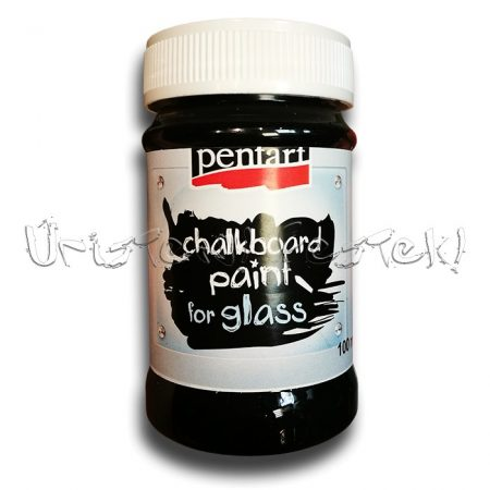 Táblafesték üvegre - Pentart Chalkboard Paint FOR GLASS - fekete, 100ml