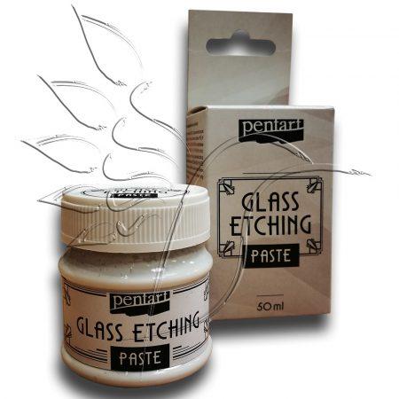Üvegmaró paszta - Pentart Glass Etching Paste 50ml