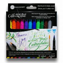Filckészlet kalligráfiához – Manuscript CalliCreative Aqua Brush 12 colours
