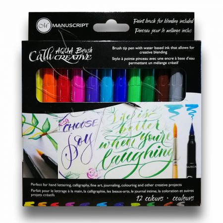 Filckészlet kalligráfiához – Manuscript CalliCreative Aqua Brush 12 colours