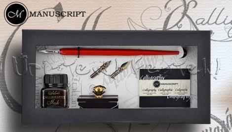 Kalligráfia – Manuscript Calligraphy Pen & Roller Blotter Gift Set