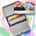 Akvarellfesték készlet - Mungyo Professional Water Color Passion for masterpieces 12 pan sets