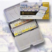 Akvarellfesték készlet METÁL - Mungyo Professional Water Color Brilliant Memories 12 pan sets