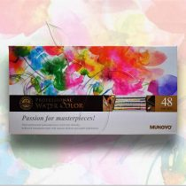Akvarellfesték készlet - Mungyo Professional Water Color Passion for masterpieces 48 pan sets