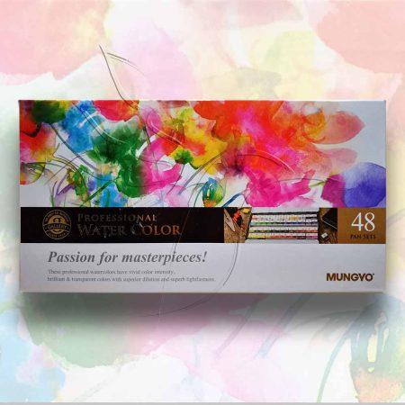 Akvarellfesték készlet - Mungyo Professional Water Color Passion for masterpieces 48 pan sets
