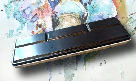 Festéktartó doboz - 12 és 24 férőhelyes fémdoboz, szárazakvarell tárolásához