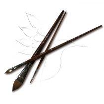 Ecset - Nyest laposecset hosszú lakkozott barna nyéllel - KÜLÖNBÖZŐ MÉRETEKBEN