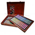 Porpasztell készlet - Mungyo Gallery  Soft Pastels in Wooden box 60pcs