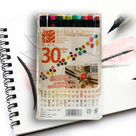 Ecsetfilc készlet - SAI Japanese Traditional 30 - ecsetvégű tustoll
