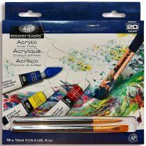 Akrilfesték készlet - Royal & Langnickel Essentials Acrylic Artist Colors 20pcs