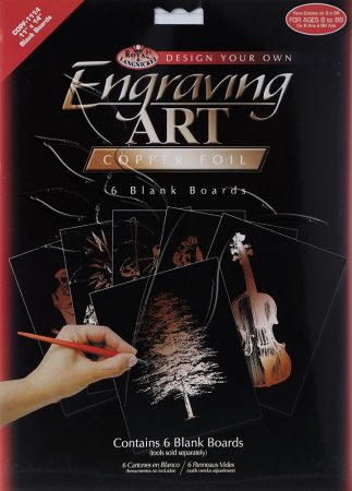 Képkarcoló készlet - Royal&Langnickel Engraving ART - COPPER - minta nélkül, 28x35,5cm
