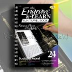 Képkarcoló könyv - Royal&Langnickel Engrave & Learn Fun Travel Book - Famous Places of the World