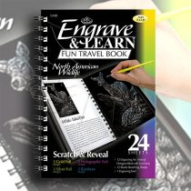 Képkarcoló könyv - Royal&Langnickel Engrave & Learn Fun Travel Book - North American Wildlife