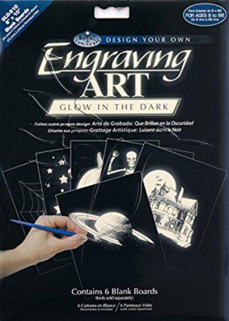 Képkarcoló készlet - Royal&Langnickel Engraving ART - GLOW IN THE DARK - minta nélkül, 20x25cm
