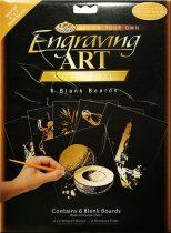 Képkarcoló készlet - Royal&Langnickel Engraving ART - GOLD - minta nélkül, 12,5x17,5cm