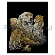 Képkarcoló készlet karctűvel - Royal&Langnickel Engraving ART - GOLD I. - 20x25