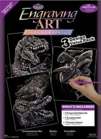 Képkarcoló készlet karctűvel - Royal&Langnickel Engraving ART - HOLOGRAFIKUS - 3 darabos
