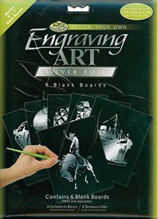 Képkarcoló készlet - Royal&Langnickel Engraving ART - SILVER - minta nélkül, 12,5x17,5cm