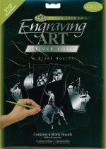 Képkarcoló készlet - Royal&Langnickel Engraving ART - SILVER - minta nélkül, 20,5x25,5cm