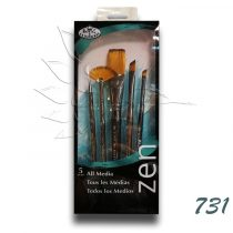 Ecsetkészlet - Royal & Langnickel ZEN All Media Brush Set 731 5pcs
