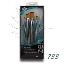 Ecsetkészlet - Royal & Langnickel ZEN All Media Brush Set 733 5pcs