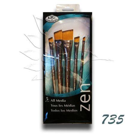 Ecsetkészlet - Royal & Langnickel ZEN All Media Brush Set 735 5pcs
