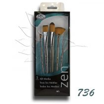 Ecsetkészlet - Royal & Langnickel ZEN All Media Brush Set 736 5pcs