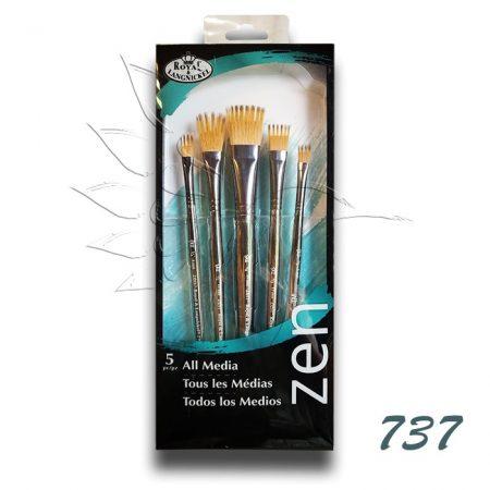 Ecsetkészlet - Royal & Langnickel ZEN All Media Brush Set 737 5pcs