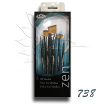 Ecsetkészlet - Royal & Langnickel ZEN All Media Brush Set 5pcs