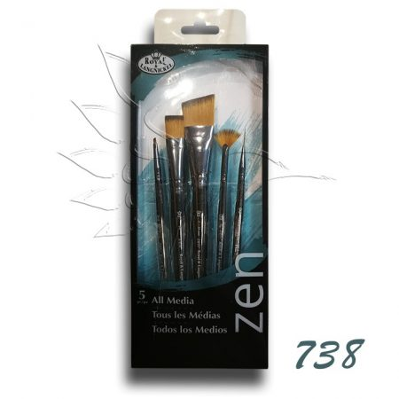 Ecsetkészlet - Royal & Langnickel ZEN All Media Brush Set 5pcs