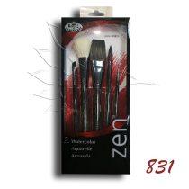Ecsetkészlet - Royal & Langnickel ZEN Watercolor Brush Set 5pcs