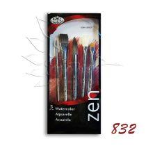 Ecsetkészlet - Royal & Langnickel ZEN Watercolor Brush Set '832 5pcs