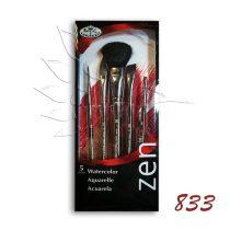Ecsetkészlet - Royal & Langnickel ZEN Watercolor Brush Set '833 5pcs