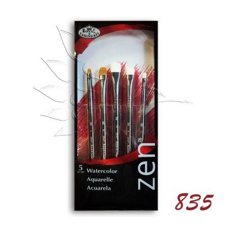 Ecsetkészlet - Royal & Langnickel ZEN Watercolor Brush Set '835 5pcs