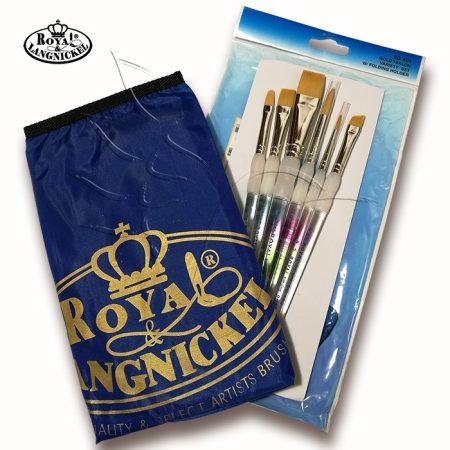 Ecsetkészlet - Royal & Langnickel Soft Grip Gold Taklon Variety 6+1pcs