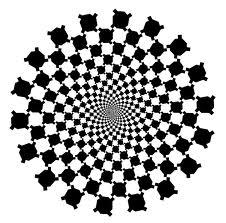 fekete-fehér spirál 2