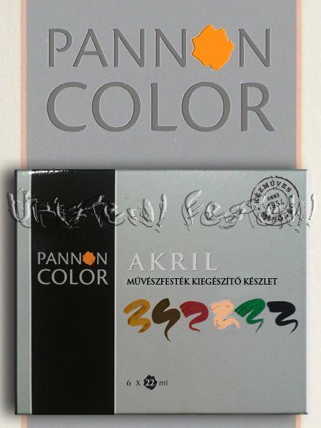 Akrilfesték készlet - Pannoncolor Művész KIEGÉSZÍTŐ készlet 6x22ml