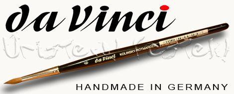 Nyestecset - Da Vinci Kolinsky vörösnyest - 3 szögű, rövid fekete nyél 36
