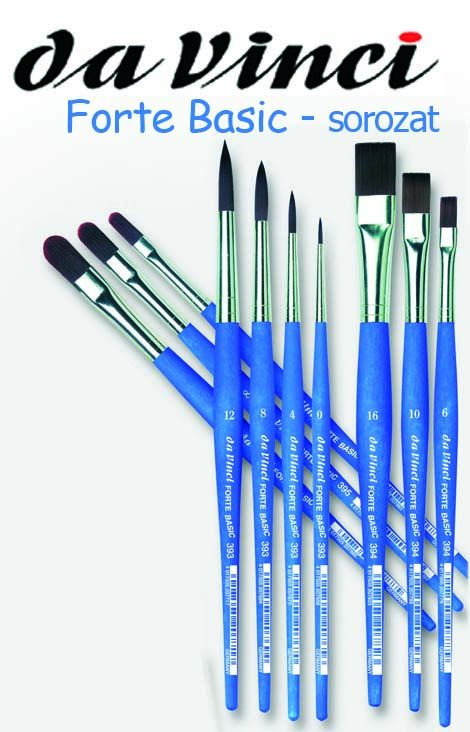 Paintbrush - Basic Forte Da Vinci - synthetic, strong, round, pointed - in different sizes!