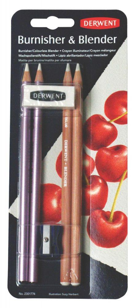 Pencil Set - Derwent light and interchangeable pencil & eraser, sharpener
