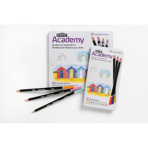 Colored Pencil Set, 24 pieces of Derwent ACADEMY