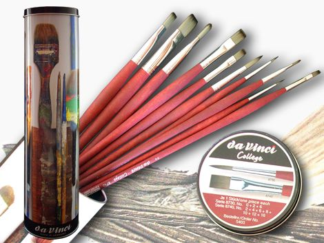 Brush Set - Metal Box Da Vinci College 11 pcs