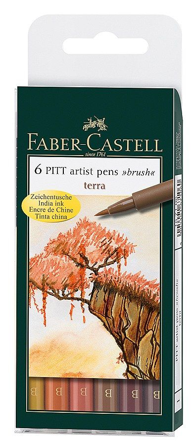 Faber-Castell Pitt Artist Pen - Terra 7