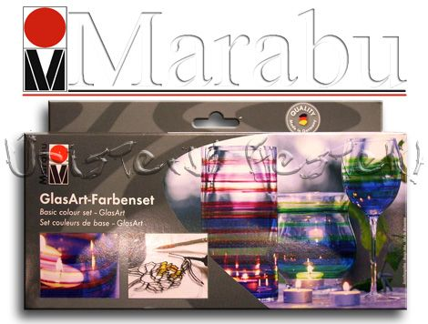 Glass  Painting Basic Set - Marabu