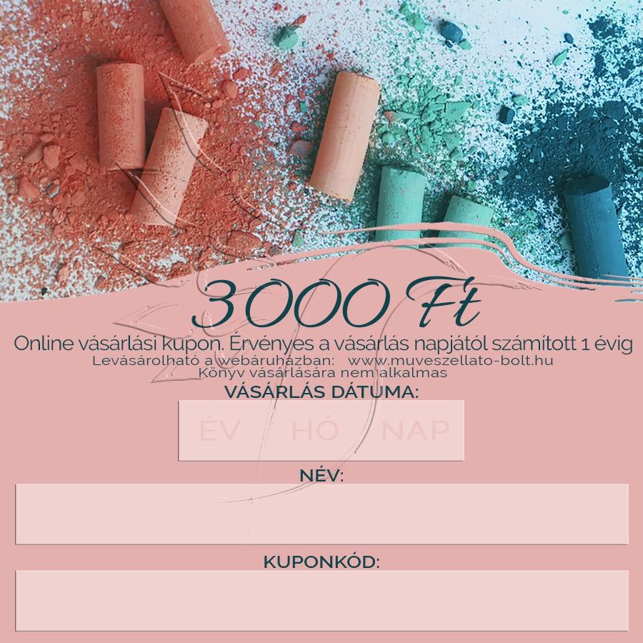 Image of Ajándékkupon ONLINE - (ajándékutalvány) 3 000 Ft